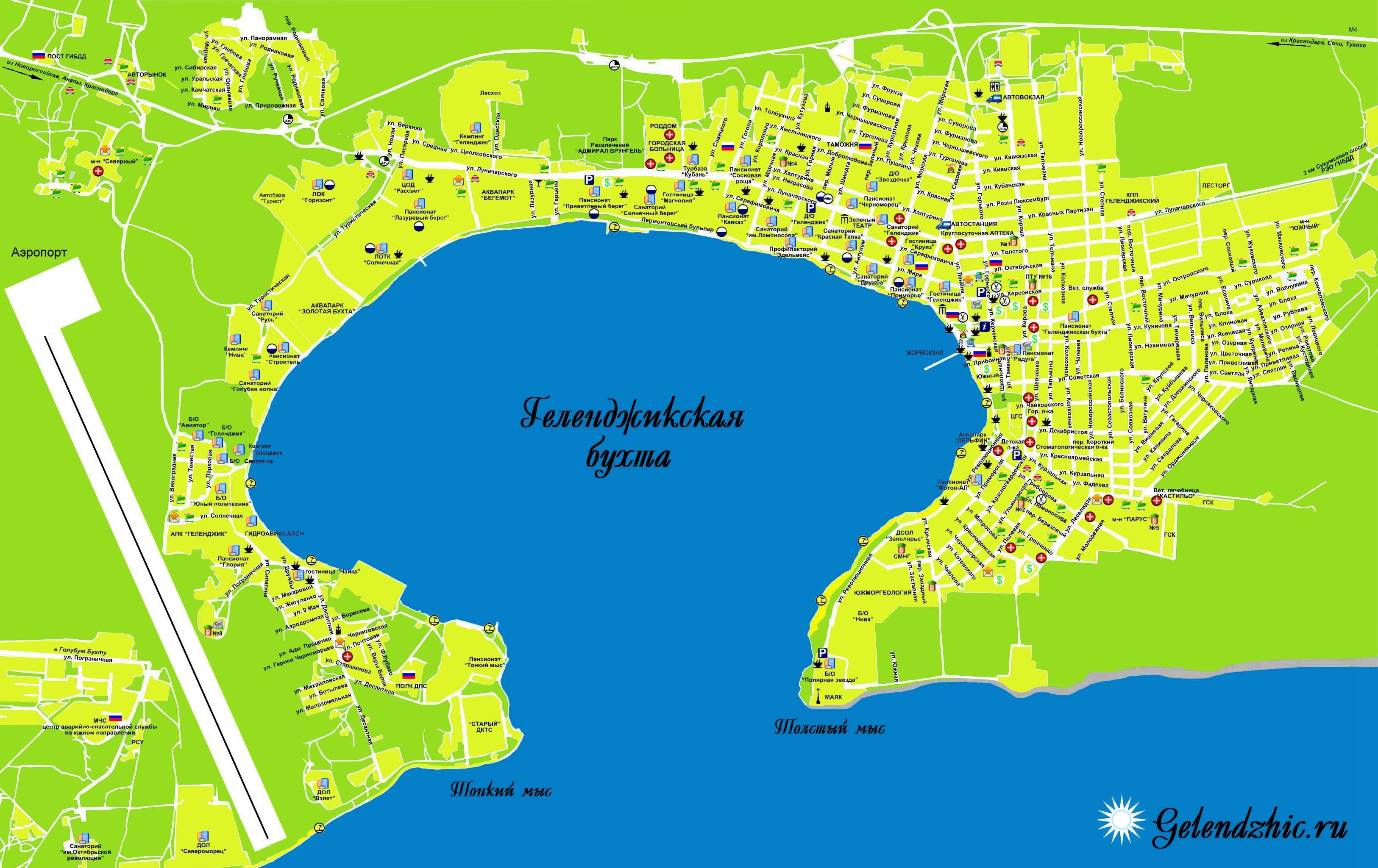 карта геленджика спутник с улицами