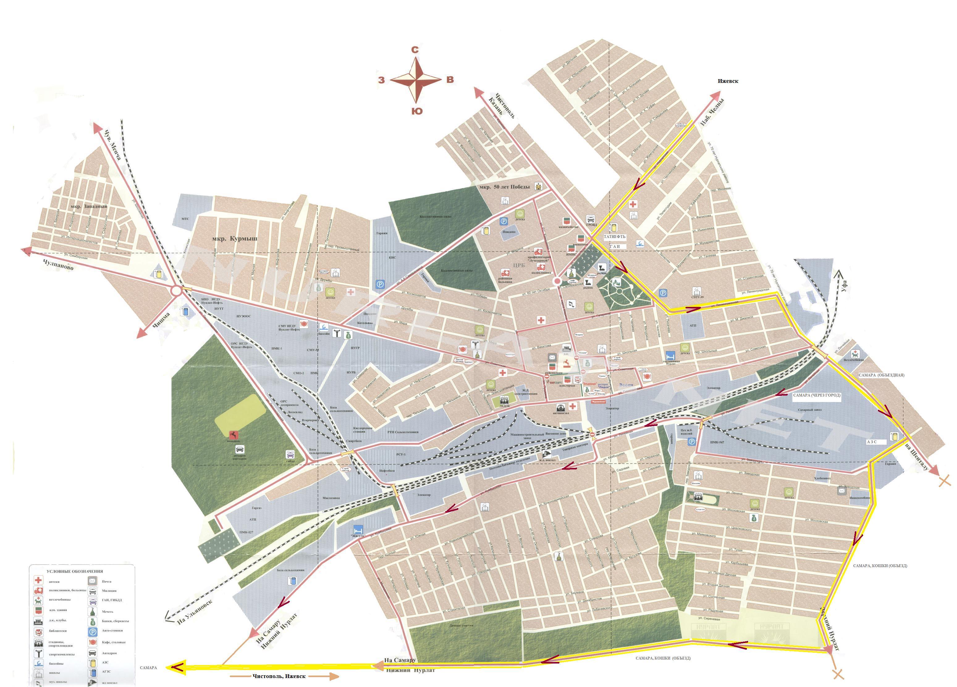 схема проезда ижевск - казань аэропорт
